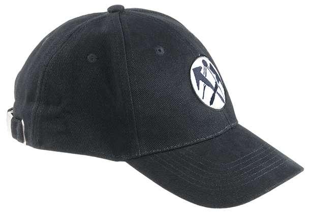 FHB LUIS Dachdecker-Cap uni, schwarz