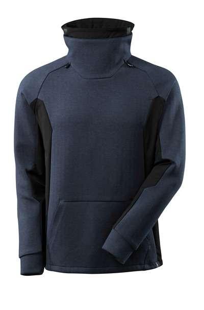 Sweatshirt mit regulierbaren Stehkragen