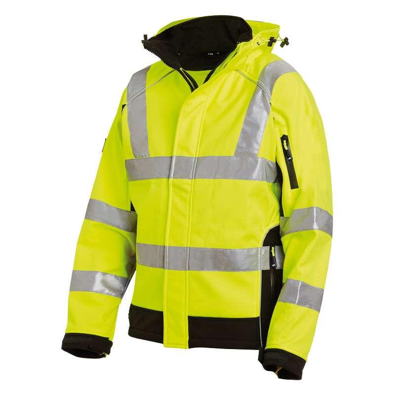 FHB FELIX Warnschutz-Softshell-Jacke